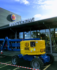 Commercial Gutter Cleaning at Burger King in Belfast